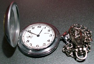 """Molnija pocket watch"" by The original uploader was Kallemax at English Wikipedia - Transferred from en.wikipedia to Commons.. Licensed under Public Domain via Wikimedia Commons."